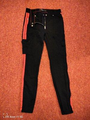 FB Sister Biker jeans zwart-rood