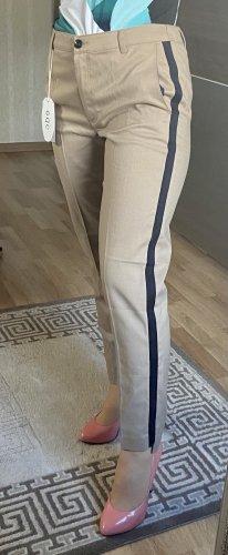 edc Pantalone chino beige-blu scuro