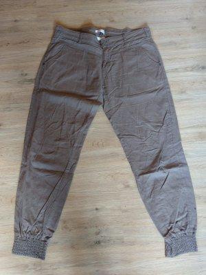 Orsay Pantalon en lin marron clair