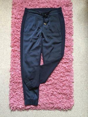 Street One Pantalone a pieghe blu scuro