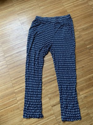 H&M Pantalon de jogging blanc-bleu foncé