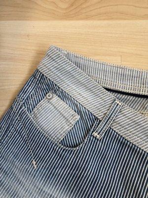 Blue Fire Pantalone a sigaretta blu scuro-bianco