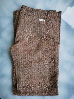Embargo Pantalon pattes d'éléphant brun-chameau coton