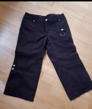 Street One Spodnie Capri czarno-brązowy