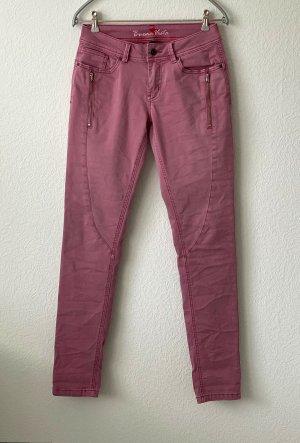 Buena Vista Tube Jeans pink-dusky pink