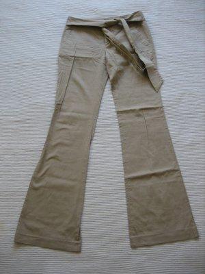 Zara Pantalone a vita bassa bianco sporco