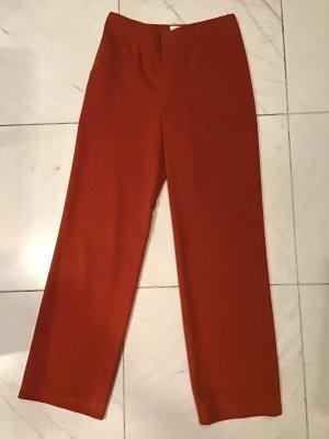 Pantalone di lana arancione scuro Lana