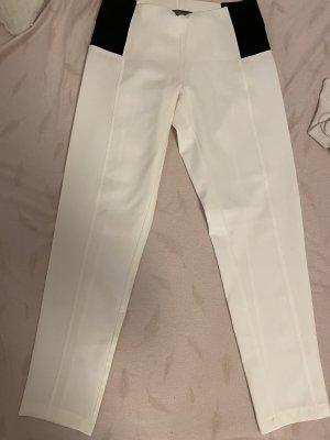 Sandro Ferrone Pantalone elasticizzato bianco-nero