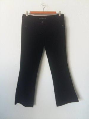 Atos Lombardini Pantalon en laine noir coton