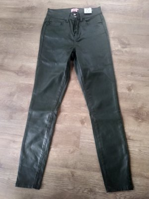 Be only Faux Leather Trousers petrol