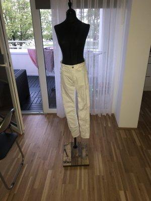 Bershka Hoge taille broek wit