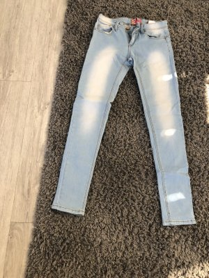 Workowate jeansy jasnoniebieski