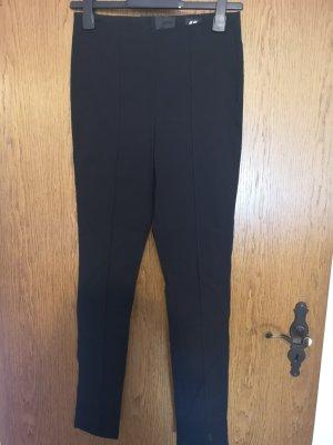 H&M Pantalon en jersey noir-doré