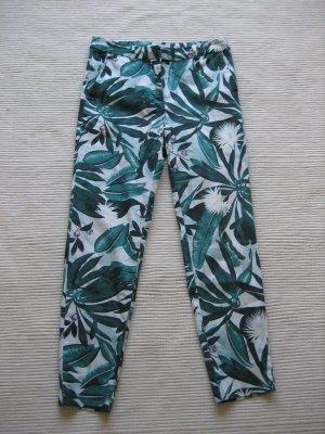 Anna Glover × H&M Spodnie 7/8 biały-zielony