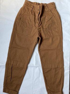 Bershka Pantalon cargo brun