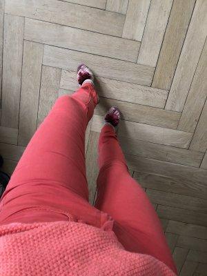 Comptoir des Cotonniers Pantalone cinque tasche rosso chiaro