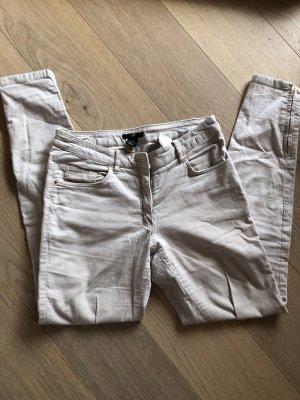 H&M Corduroy broek beige-licht beige