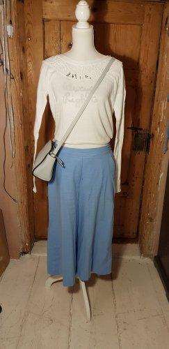 Ichi Falda pantalón de pernera ancha azul celeste Algodón