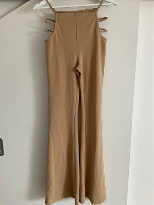 Bershka High Waist Trousers beige