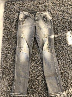 Jeans baggy gris