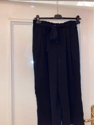 Zara Basic Falda pantalón de pernera ancha negro