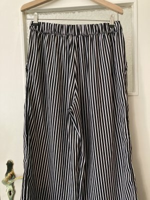 Pieces Culottes black-white polyester