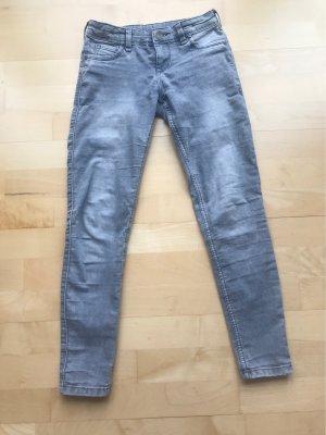 C&A Pantalon taille basse gris clair