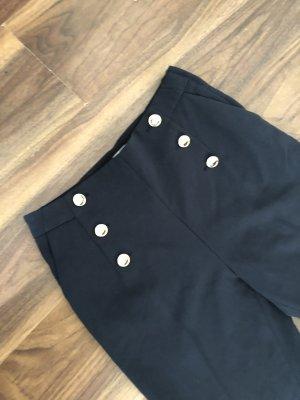 H&M Pantalon taille basse bleu foncé