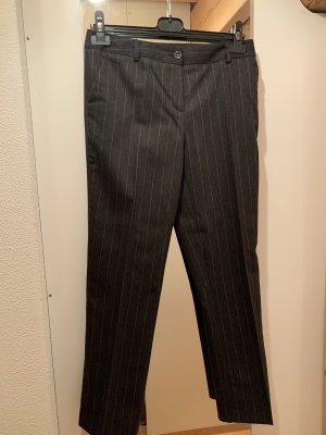 Pantalone di lana nero-rosa