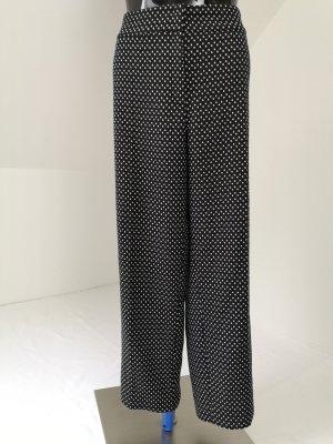 Escada Pantalone di lana bianco-nero