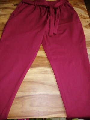 Mango Basics Pantalon large bordeau