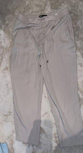 Zara Pantalon en jersey crème