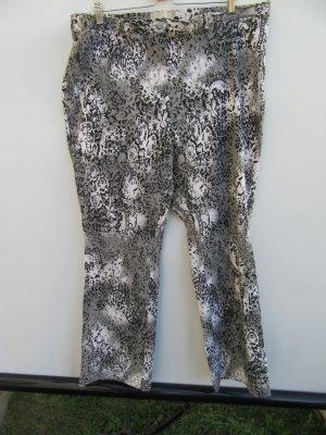 Hose Damen Leopard grau Muster Vintage Retro Gr. 5XL / Gr. 54
