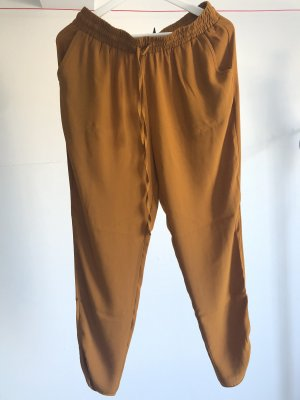 Forever 21 7/8 Length Trousers cognac-coloured