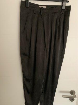 Stefanel Boyfriend Trousers black silk