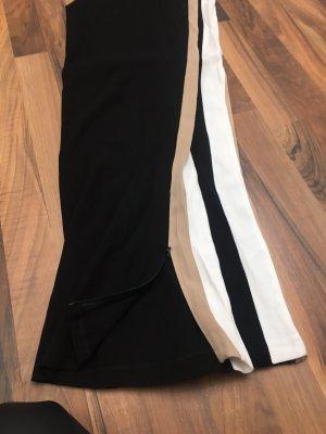 Pantalón de campana negro-blanco