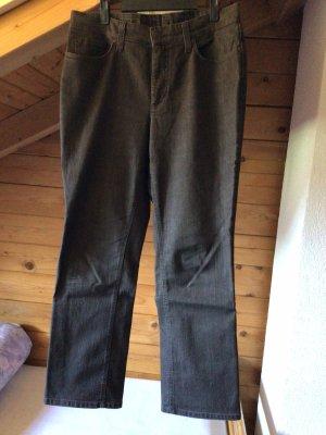Mac Pantalon cinq poches brun noir