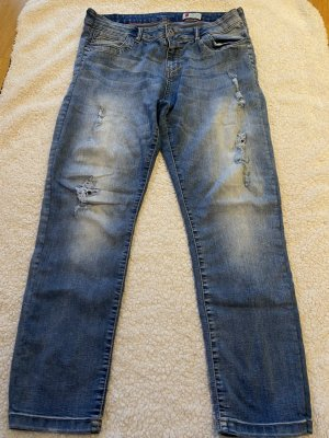 & DENIM Boyfriendbroek azuur