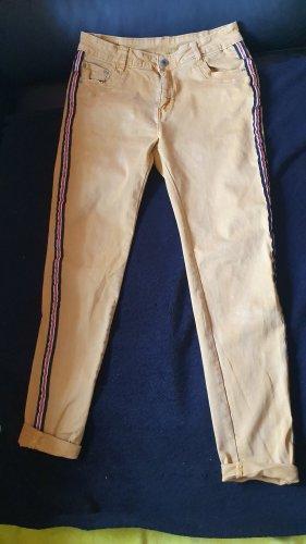 Stretch jeans goud Oranje