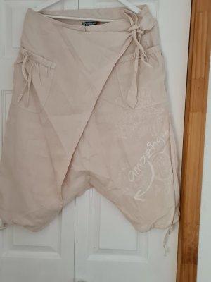 Desigual Pantalón pirata crema
