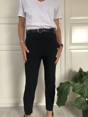 dolores Pantalon en jersey noir-argenté polyester