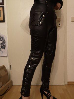 08/16 Pantalon taille haute noir polyamide