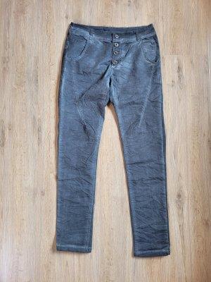 Made in Italy Pantalon cargo bleu acier