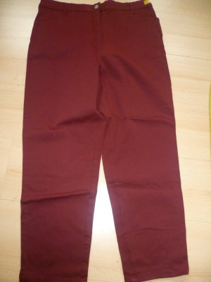 Barisal Jeans dark red cotton