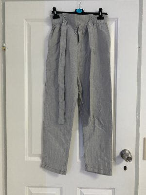 Mango Pantalon boyfriend gris clair