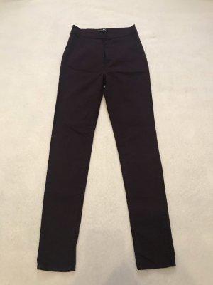 Pantalón de cintura alta violeta oscuro