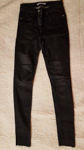 Zara Jeans a 7/8 nero-marrone