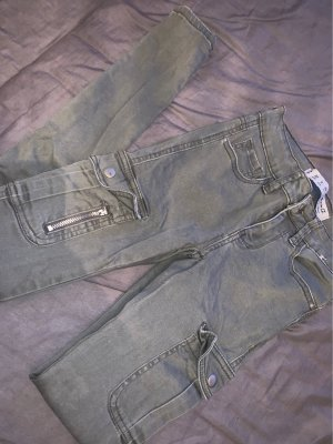 pantalón de cintura baja caqui