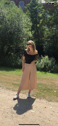 Zara Pantalone a zampa d'elefante rosa antico-rosa pallido