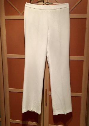 Zara Woman Pantalone a zampa d'elefante bianco